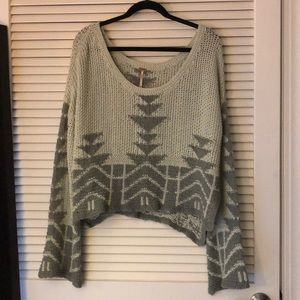 Knit sweater with bell sleeves from free people